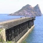 El embarcadero de El Hornillo y al fondo la isla del Fraile. :: P. A. / AGM
