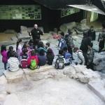 Un grupo de visitantes en el Decumano, en la plaza de los Tres Reyes, a principios de año. :: PABLO SÁNCHEZ / AGM
