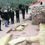Imagen del yacimiento durante la visita al mismo que realizó el presidente Valcárcel a principios de mes . :: PACO ALONSO / AGM