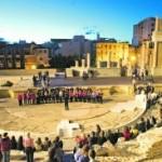 Teatro Romano en una imagen de la última Noche de los Museos, el pasado mes de mayo. :: J. M. Rodríguez/AGM